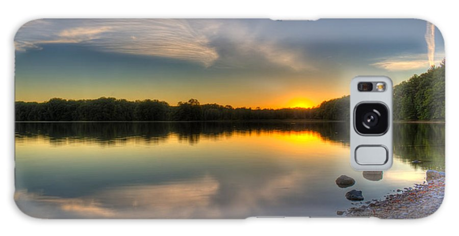 Sunset Galaxy S8 Case featuring the photograph Quiet Reflection by Megan Noble