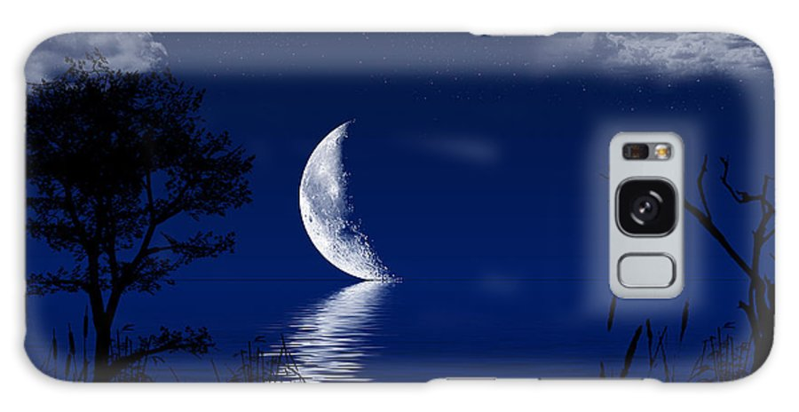 Moon Galaxy S8 Case featuring the photograph Quite Moonrise by Leander Urmy