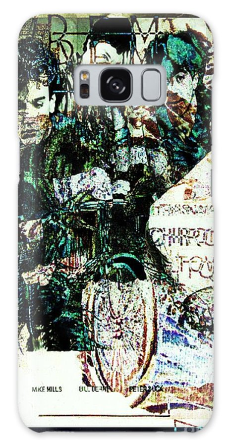 Fractal Art Galaxy S8 Case featuring the digital art R E M / Exit Chronic Town by Elizabeth McTaggart