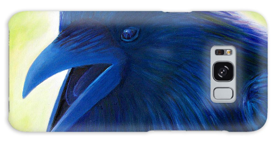 Raven Galaxy Case featuring the painting Raaawk by Brian Commerford