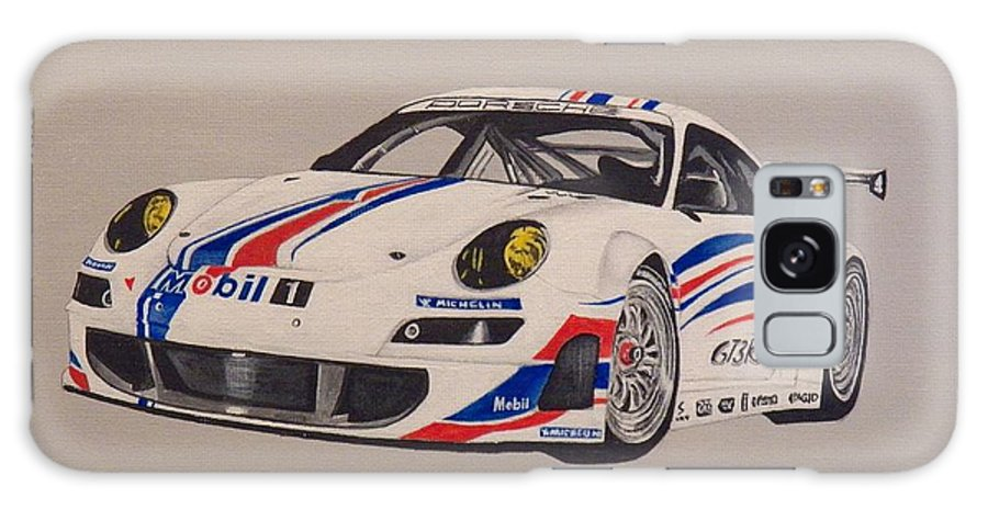 Race Cars Galaxy S8 Case featuring the painting Race The Porsche by Jim Reale