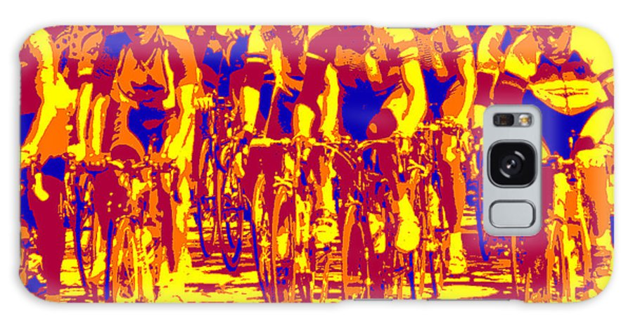 Summer Olympics Galaxy S8 Case featuring the photograph Racing Pelaton by David Bearden
