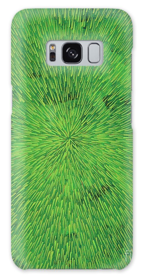 Abstract Galaxy Case featuring the painting Radiation Green by Dean Triolo