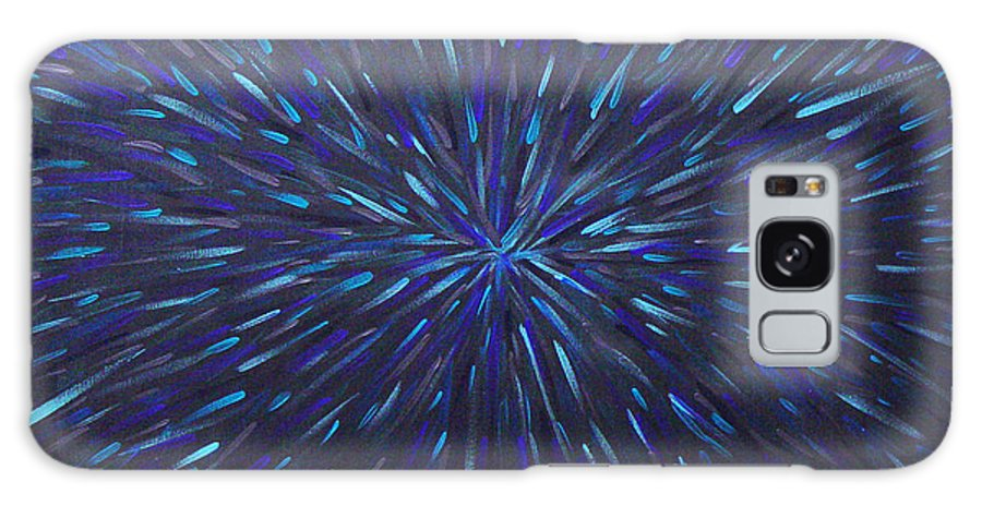 Abstract Galaxy Case featuring the painting Radiation Grey by Dean Triolo