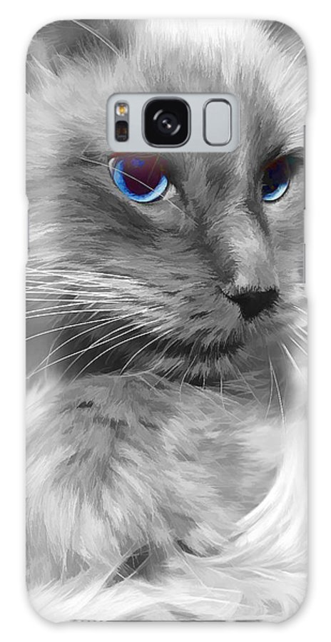 Ragdoll Galaxy S8 Case featuring the photograph Ragdoll In Black And White by Joyce Baldassarre