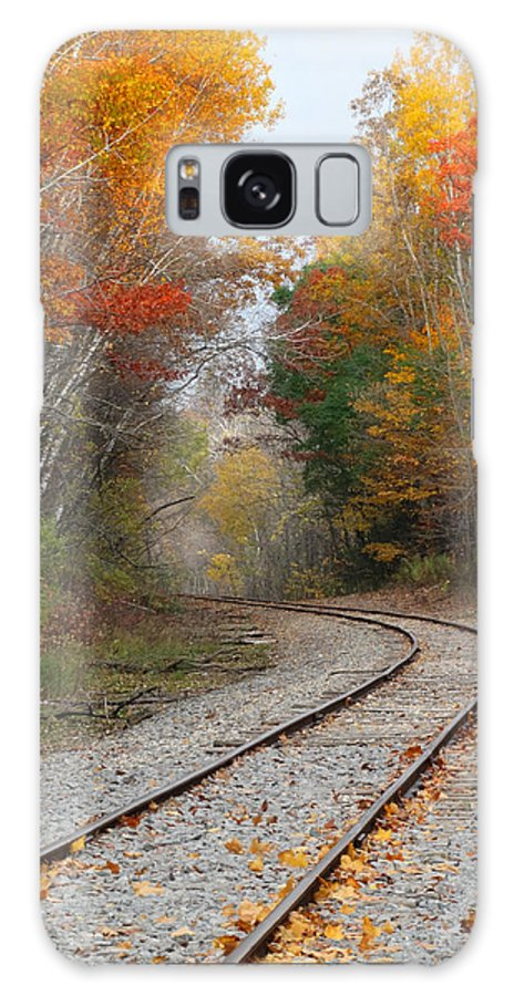 Fall Colors Galaxy S8 Case featuring the photograph Rail Through The Colors by David T Wilkinson