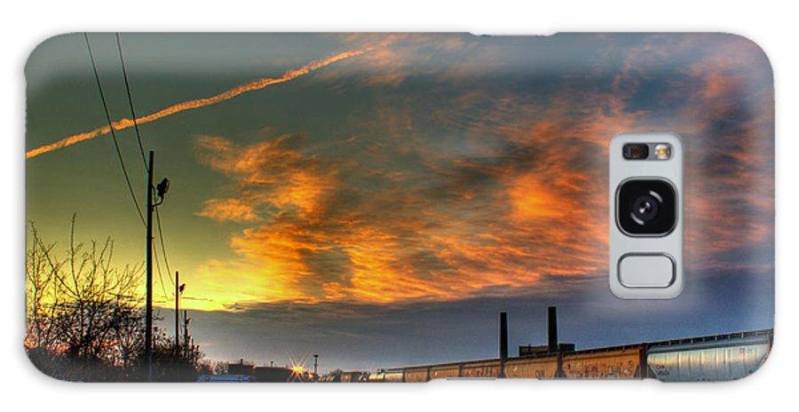 Dawn Galaxy S8 Case featuring the photograph Railroad At Dawn by Tim Buisman