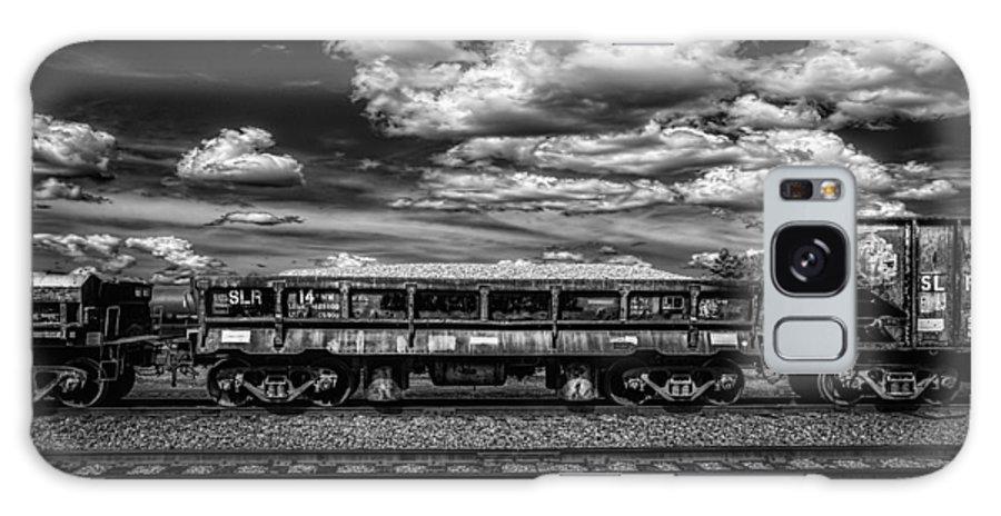 Train Galaxy S8 Case featuring the photograph Railroad Gravel Car by Bob Orsillo