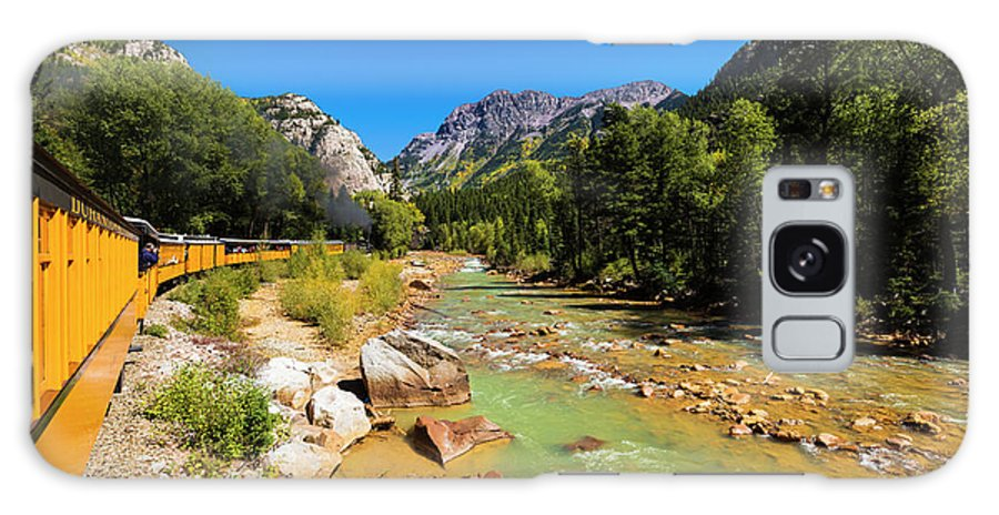 1800's Galaxy S8 Case featuring the photograph Railroad On The Animas River, San Juan by Russ Bishop