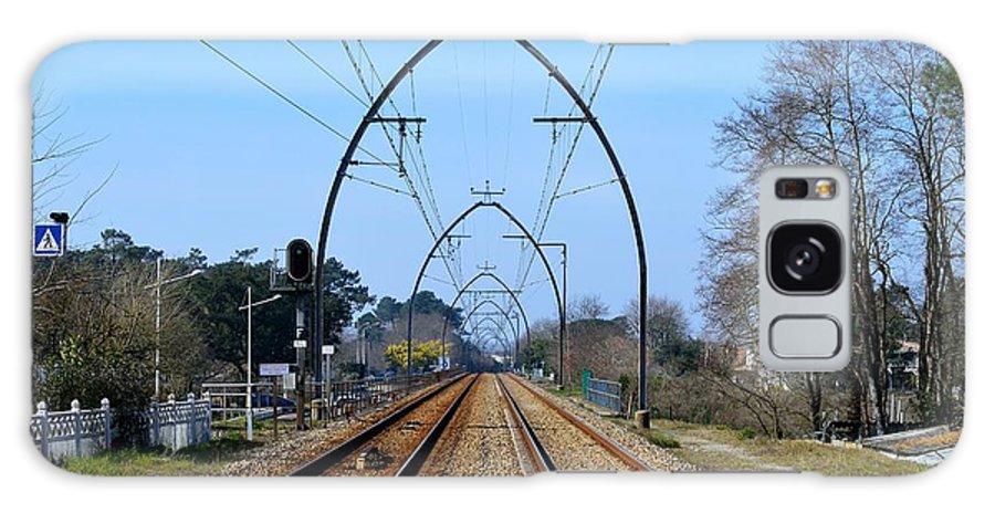 Railway Tracks Galaxy S8 Case featuring the photograph Railway Tracks by Bishopston Fine Art