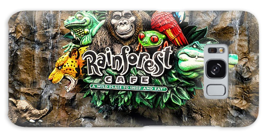 Rain Forest Cafe Galaxy S8 Case featuring the photograph Rain Forest Cafe Signage Walt Disney World by Thomas Woolworth