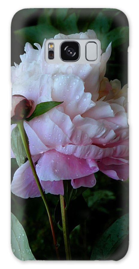 Peony Galaxy S8 Case featuring the photograph Rain-soaked Peonies by Rona Black