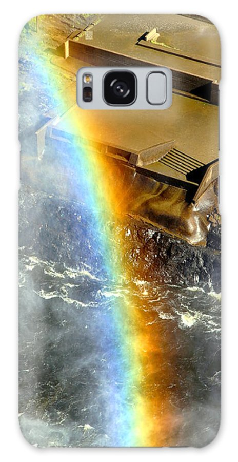 River Galaxy S8 Case featuring the photograph Rainbow And Falls by Valentino Visentini