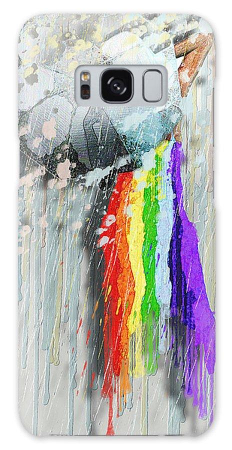 Rainbow Galaxy S8 Case featuring the painting Rainbow by Luana-Beatrice Lazar