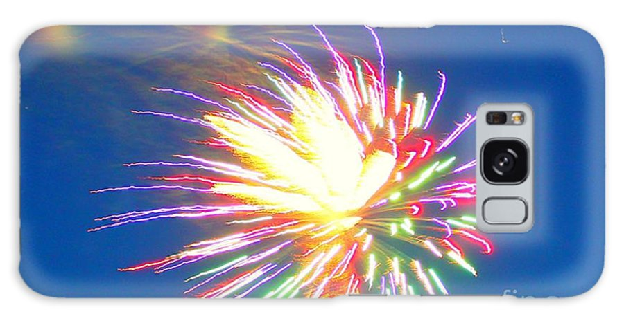 Coloful Fireworks Galaxy S8 Case featuring the photograph Rainbow Of Color Abstract Fireworks by Judy Palkimas
