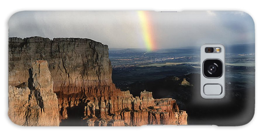 Southwest Galaxy S8 Case featuring the photograph Rainbow Over Bryce Canyon by Sandra Bronstein