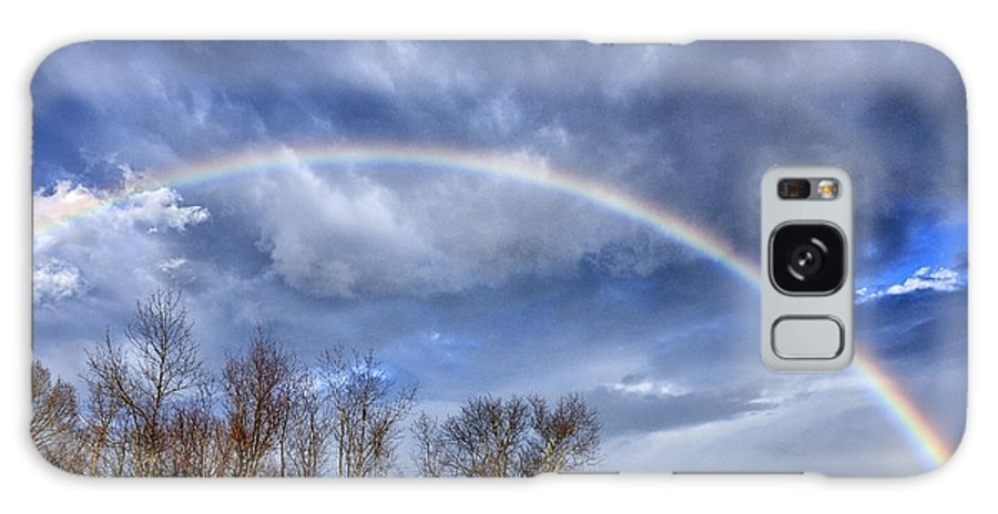 Rainbow Galaxy S8 Case featuring the photograph Rainbow Over Mountain by Thomas R Fletcher