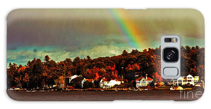 Rainbow Galaxy S8 Case featuring the photograph Rainbow Over Winnipesaukee Two by Kevin Fortier