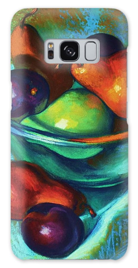 Pastel Galaxy S8 Case featuring the painting Rainbow Pears by Peggy Wrobleski