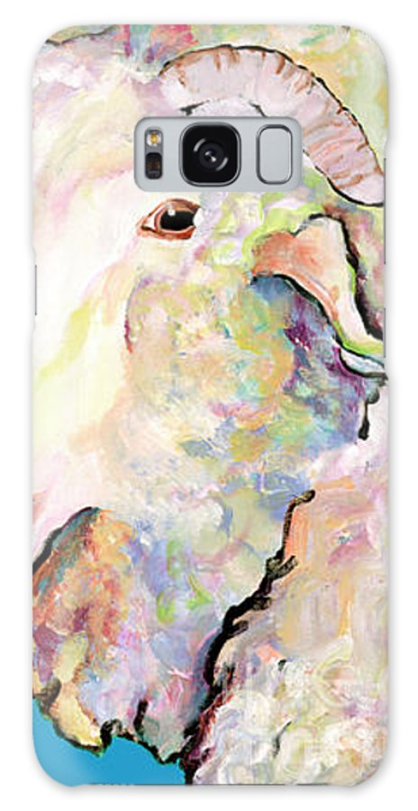 Pat Saunders-white Galaxy S8 Case featuring the painting Rainbow Ram by Pat Saunders-White