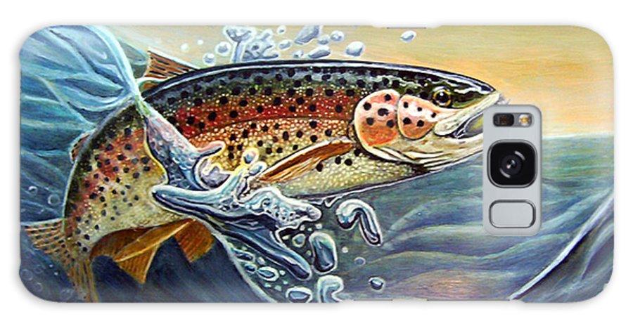 Rick Huotari Galaxy S8 Case featuring the painting Rainbow by Rick Huotari