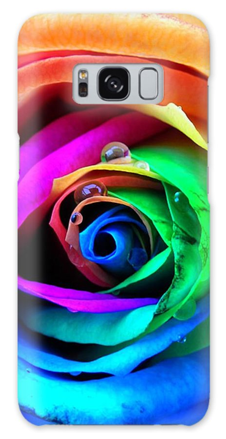 Rainbow Galaxy S8 Case featuring the photograph Rainbow Rose by Juergen Weiss