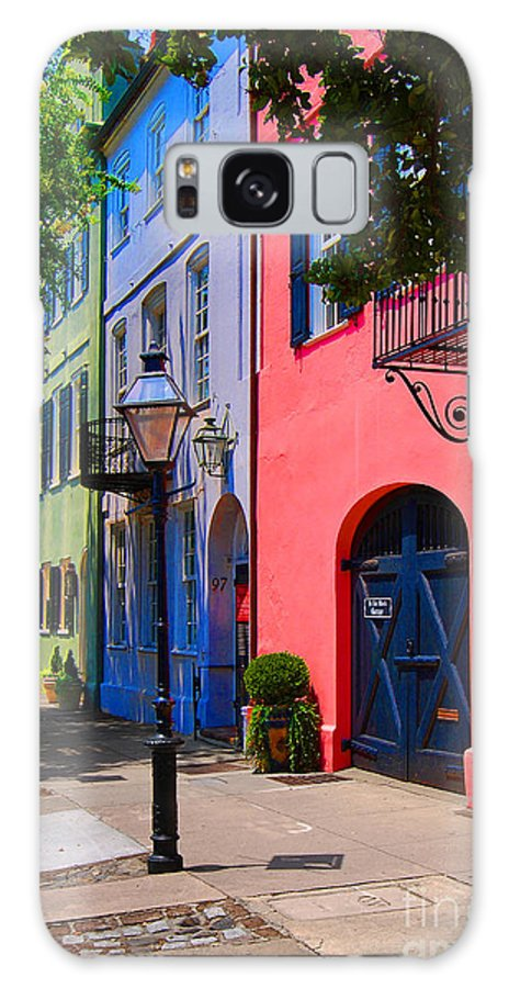 Scenic Tours Galaxy S8 Case featuring the photograph Rainbow Row Charleston by Skip Willits