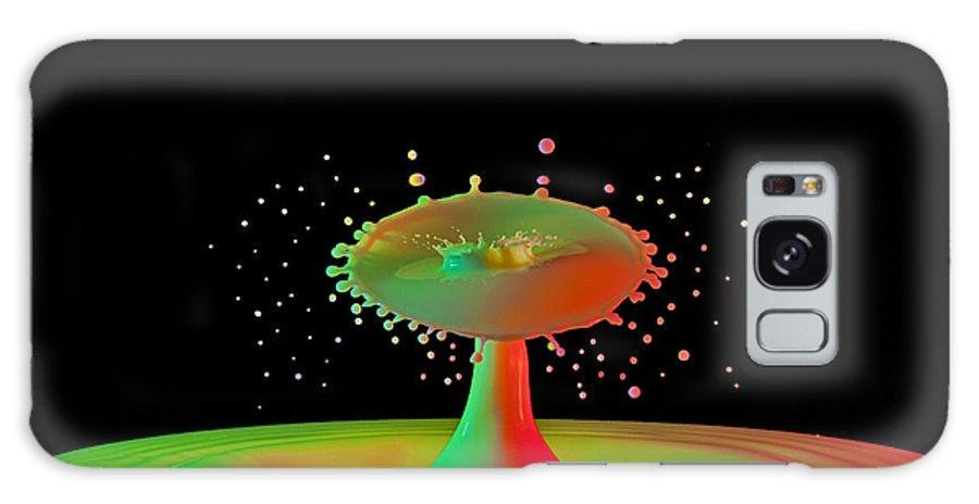 Water Art Galaxy S8 Case featuring the photograph Rainbow Splash by Susan Candelario