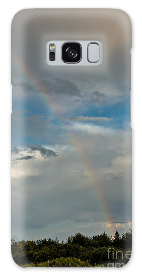 Rainbow Galaxy S8 Case featuring the photograph Rainbow Through The Clouds by Cheryl Baxter
