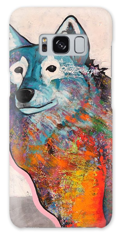 Animal Galaxy S8 Case featuring the painting Rainbow Warrior - Alfa Wolf by Joe Triano