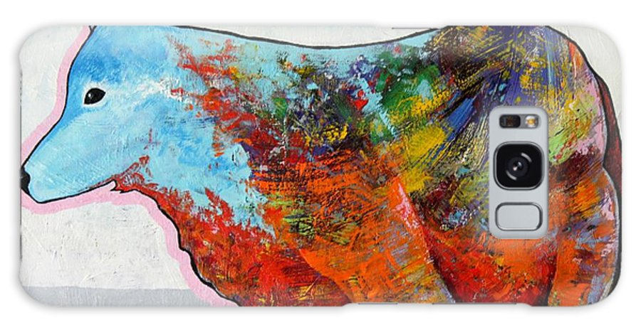 Animal Galaxy Case featuring the painting Rainbow Warrior - Coyote by Joe Triano