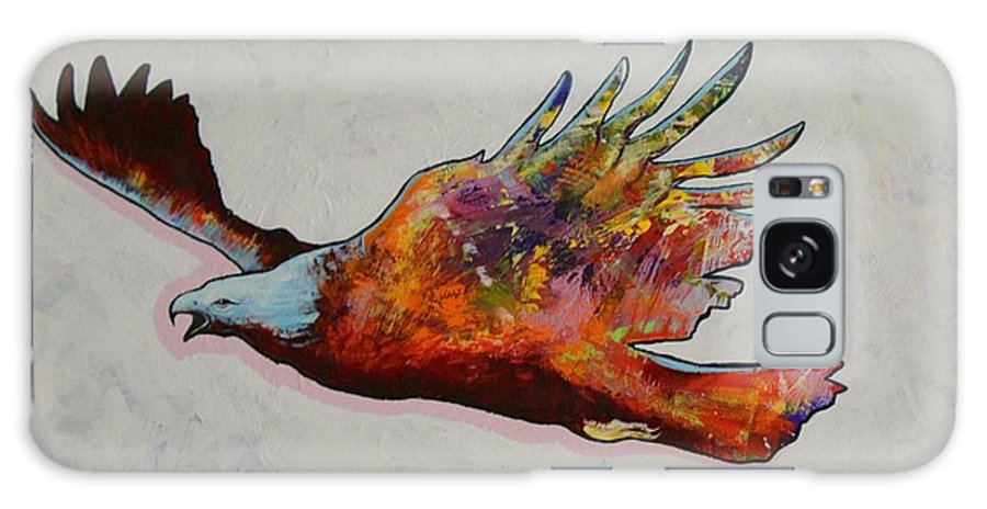 Wildlife Galaxy Case featuring the painting Rainbow Warrior Flying Eagle by Joe Triano