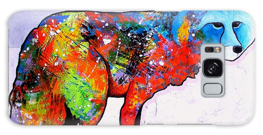 Animal Galaxy Case featuring the painting Rainbow Warrior - Fox by Joe Triano