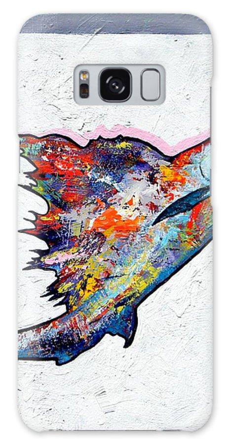 Wildlife Galaxy Case featuring the painting Rainbow Warrior - Sailfish by Joe Triano