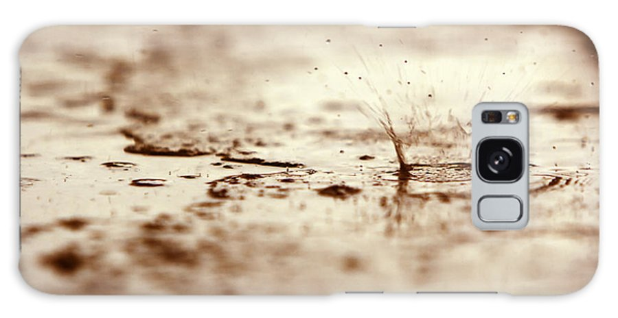 Bad Galaxy S8 Case featuring the photograph Raindrop Falling On The Street by Dan Radi