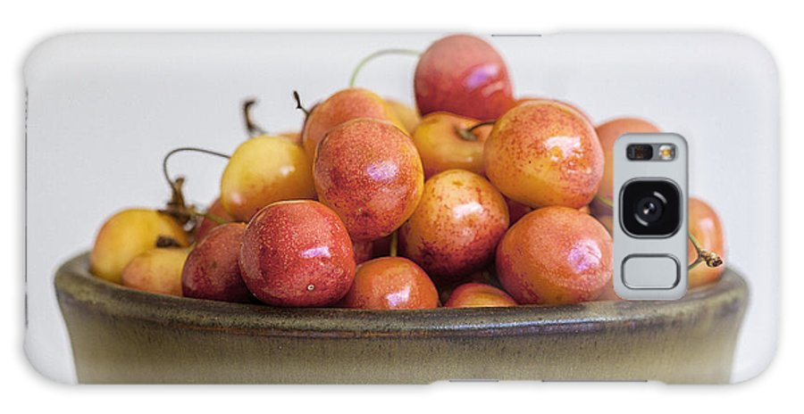 Cherries Galaxy S8 Case featuring the photograph Rainier Cherries And Ceramic Bowl by Rich Franco