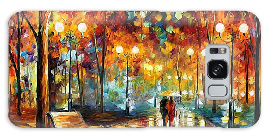 Leonid Afremov Galaxy Case featuring the painting Rain's Rustle 2 - Palette Knife Oil Painting On Canvas By Leonid Afremov by Leonid Afremov