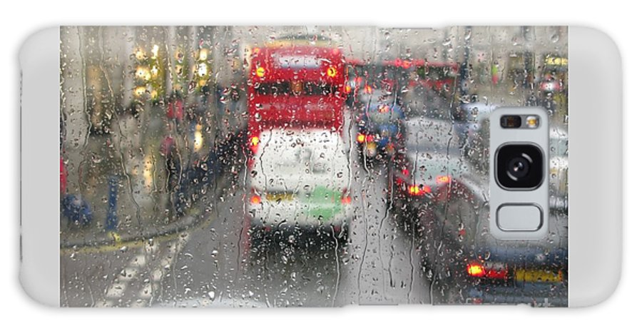 London Galaxy S8 Case featuring the photograph Rainy Day London Traffic by Ann Horn