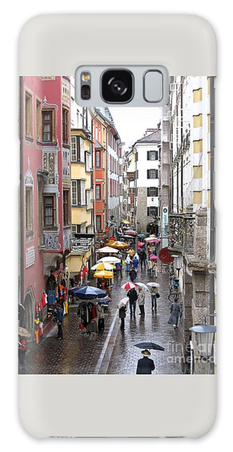 Innsbruck Galaxy S8 Case featuring the photograph Rainy Day Shopping by Ann Horn