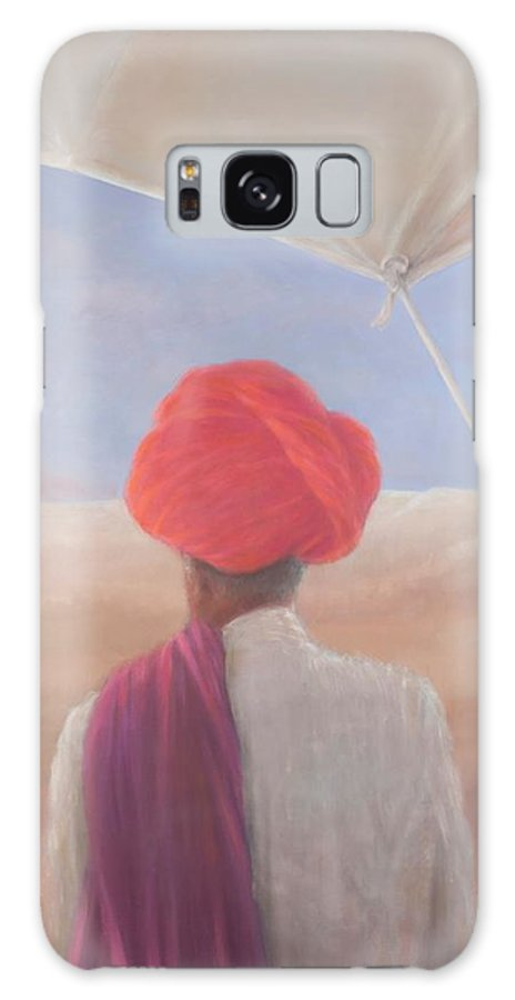 Rajasthan Galaxy S8 Case featuring the photograph Rajasthan Farmer, 2012 Acrylic On Canvas by Lincoln Seligman