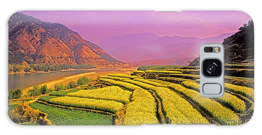 China Galaxy S8 Case featuring the photograph Rapeseed Terraces by Dennis Cox