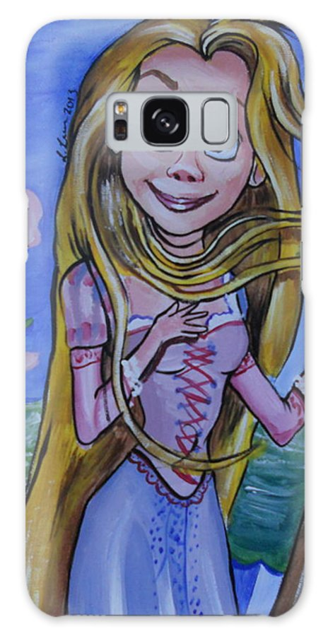 Rapunzel Galaxy S8 Case featuring the painting Rapunzel In A Botticelli Style by Lisa Leeman