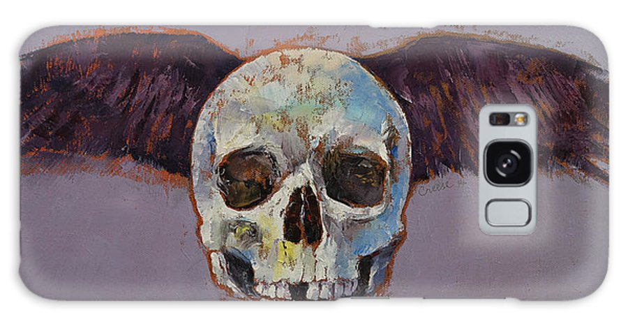 Michael Creese Galaxy S8 Case featuring the painting Raven Skull by Michael Creese