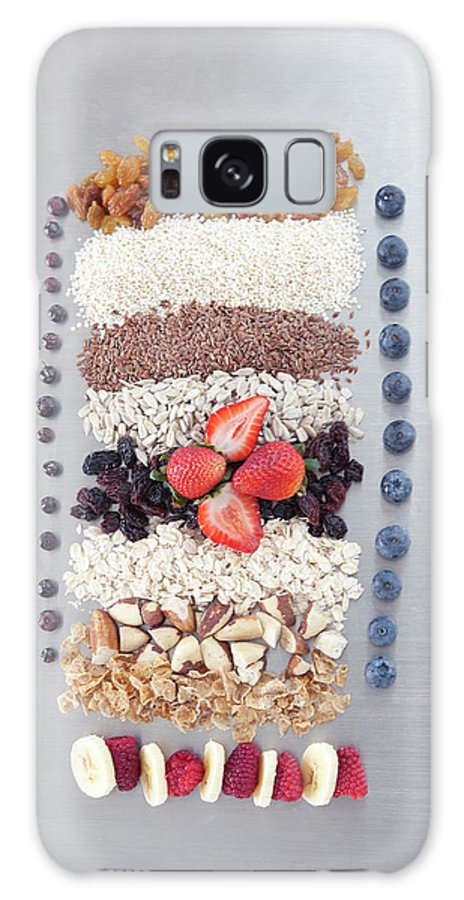 Nut Galaxy Case featuring the photograph Raw Nuts, Fruit And Grains by Laurie Castelli