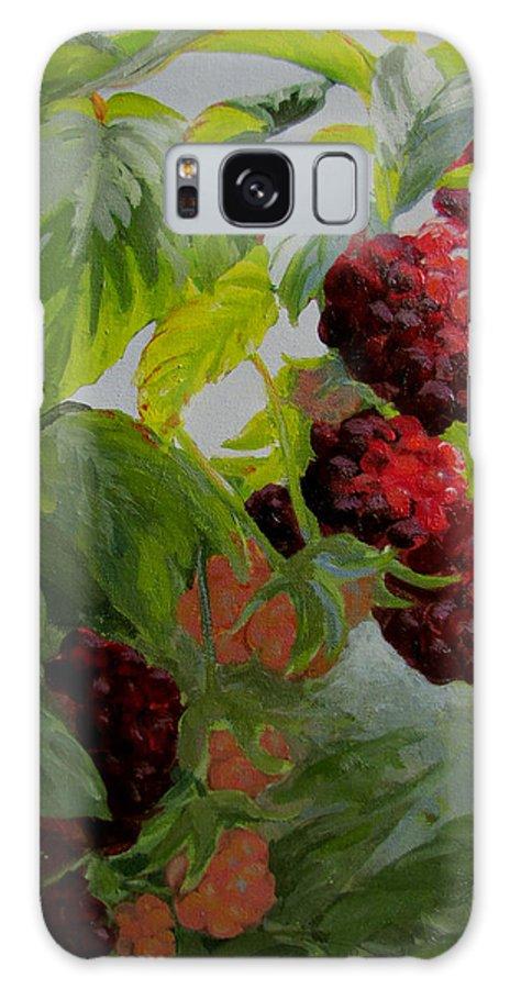 Berries Galaxy S8 Case featuring the painting Razzleberries by Karen Ilari