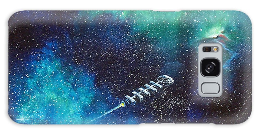 Spacescape Galaxy S8 Case featuring the painting Reaching Out by Murphy Elliott