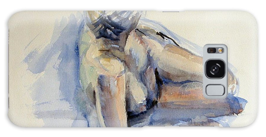 Nude Galaxy S8 Case featuring the painting Reclining Life Model by Podi Lawrence