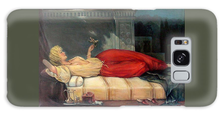 Reclining Woman Galaxy S8 Case featuring the painting Reclining Woman by Donna Tucker