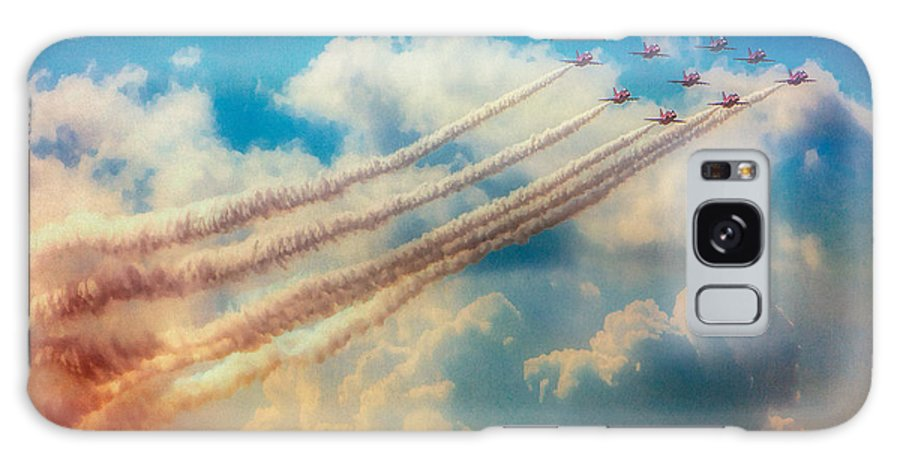 Aircraft Galaxy S8 Case featuring the photograph Red Arrows Smoke The Skies by Chris Lord