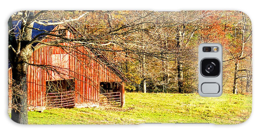 Barns Galaxy S8 Case featuring the photograph Red Barn In Late Fall by Duane McCullough